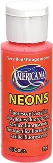 DecoArt DHS4-3 Americana Neon's Paint, 2-Ounce, Fiery Red