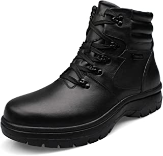 MNVOA Ankle Boots Men Black Casual Winter Boots Comfortable Classic Boot for Men Plus Size Shoes 12-21 UK