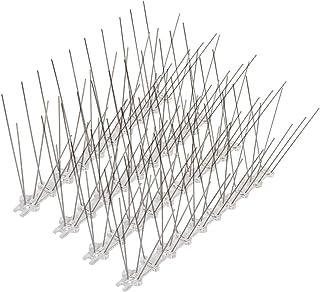 YOLER鳥よけハト・カラス対策全長350cm14個入害鳥による被害(巣作り・糞・騒音)を阻止ステンレス製針ベランダ屋上用