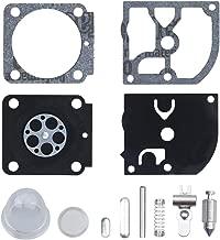 Anxingo RB-100 Carburetor Rebuild Kit with Primer Bulb for Stihl HS45 FS55 FS38 BG45 MM55 & Mini Tiller 4137 EMU Trimmer Zama C1Q-S157 C1Q-S69 C1Q-S69A C1Q-S70 C1Q-S71 C1Q-S73