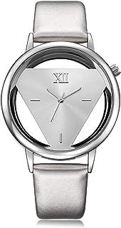 GEEKTHINK Classic Elegant Hollow Quartz Lady Watch Women Brand Gold Ladies Casual Dress Leather Strap Clock Female Girls T...