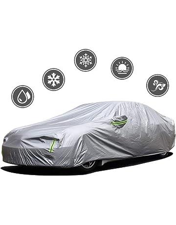 Dinuoda Funda de coche para Cadillac CTS cubierta completa de coche impermeable transpirable lluvia nieve polvo sol UV todo clima cubierta de poli/éster 495 x 190 x 160 cm