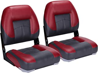 North Captain T1 Deluxe Low Back Folding Boat Seat (2 Seats)