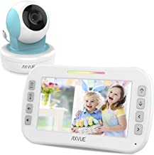 Video Baby Monitor with Remote-Controlled Camera and Clear Large Screen, Two Way Talk, Long Range Connection, No WiFi Needed, Caring for Elder, Home Security Protect by Axvue, Blue, Model E9650-B