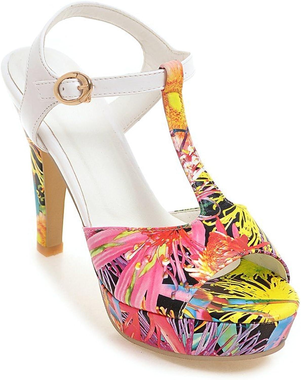 QIN&X Damen Peep Toe Stilettos Riemchen Sandalen  | Hohe Qualität Und Geringen Overhead