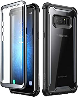 i-Blason Case for Galaxy Note 8 2017 Release,  [Ares Series] Full-body Rugged Clear Bumper Case with Built-in Screen Protector (Black)