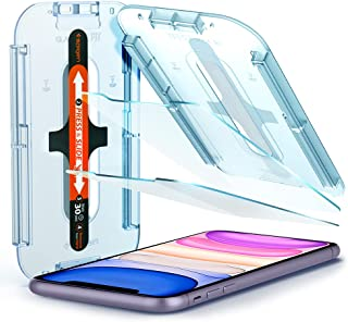 Spigen Tempered Glass Screen Protector [Glas.tR EZ Fit] Designed for iPhone 11 / iPhone XR [6.1 inch] [Case Friendly] - 2 ...