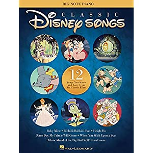 Classic Disney Songs – Big Note Piano Songbook: Songbook für Klavier