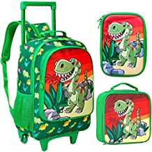 3PCS Rolling Backpack for Boys, 18