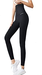 2020 New Women's Compression Yoga Pants with Hook and Eye Closure, High Waist Seamless Shapewear Leggings, Hip Lift Body S...