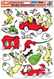Eureka Back to School Dr. Seuss Green Eggs and Ham Vinyl Window Clings and Classroom Decorations, 15pc, 12'' W x 17'' H