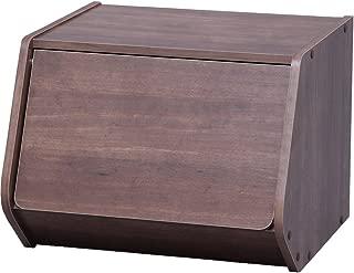 アイリスオーヤマ スタック ボックス 扉付き 幅40×奥行38.8×高さ30.5cm ブラウン STB-400D
