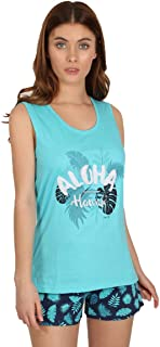 Pijama Mujer Tirantes Aloha Hawaii - Turquesa, L