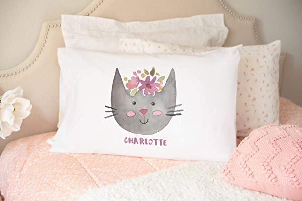 Qualtry Personalized Whimsical Hand Drawn Dog Cat Pillowcases Dorable Loveable Designs Perfect Decorating Material Pet Lover Gift Machine Washable 21 X 31 Charlotte