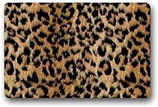 Roman's Doormat Leopard Print Outdoor/Indoor Rubber Backed Non-Slip Front Door Entrance Doormat 23.6 x 15.7 Inches Decor Rug Carpets