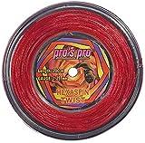 Pro Tenis Cordaje Hexaspin Twist 1,25mm de 200m Rojo