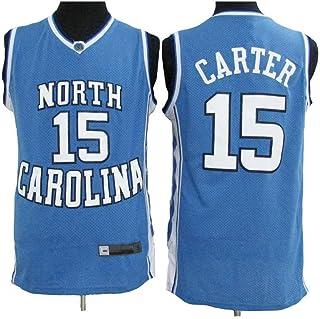 Jersey De Baloncesto para Hombre, Vince Carter # 15 North Carolina University Edition Cool Breathable Retro Unisex Sports Basketball T-Shirts Jersey