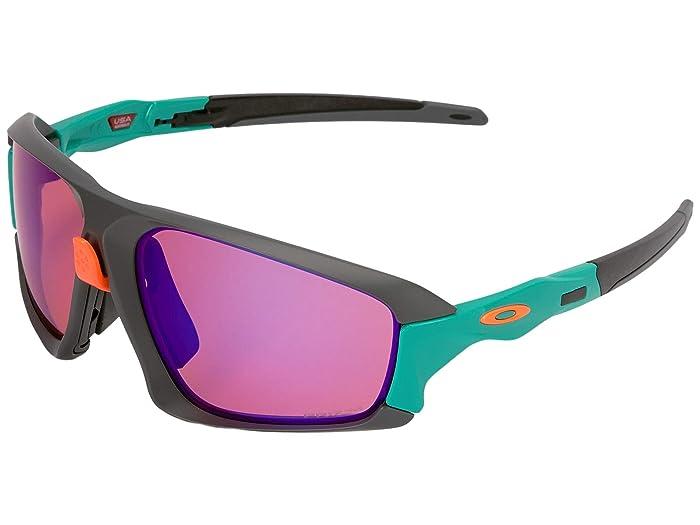 Oakley Field Jacket (Matte Dark Grey/Celeste w/ Prizm Trail) Sport Sunglasses