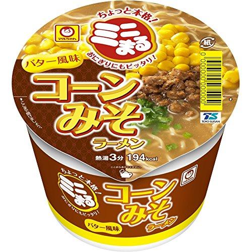 マルちゃん ミニまる コーン味噌ラーメンバター風味 49g×12個 (ミニサイズ)