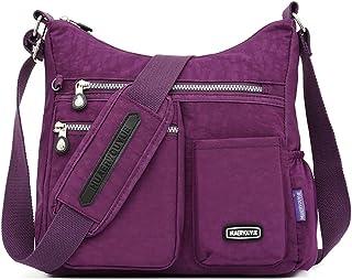 Estwell Schultertasche Damen Groß Kapazität Umhängetasche Wasserdicht Nylon Damenhandtaschen Mode Umhängetaschen für Reise...