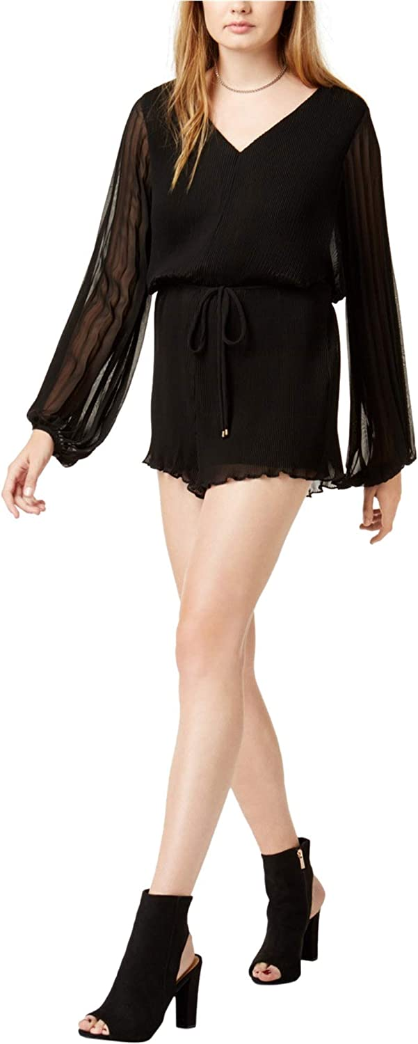 ASTR the Label Womens Pleated VNeck Romper
