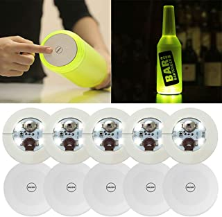 10Pcs LED Bar Coaster,LED Stickers,Light Up Bar Coasters For Drinks,Cup Holder Lights For Wine Liquor Bottle,Perfect For Party,Wedding,Bar (white)