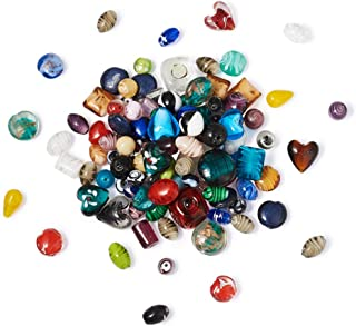 Craftdady 500g Mixed Shapes & Colors Lampwork Glass Beads Loose Beads Fit Most Major Charm Bracelets, 11-29x11-25mm, Hole: 0.5-4mm