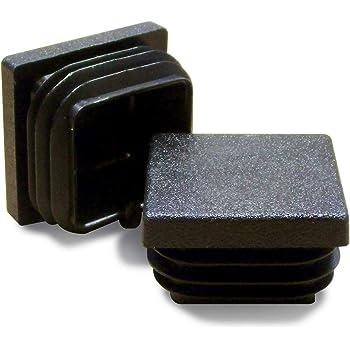 Quadratstopfen 35x35 Schwarz Kunststoff Lamellenstopfen Abdeckkappe 5 Stck