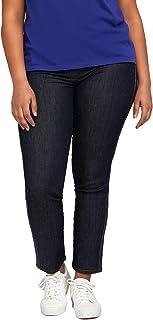 Fiorella Rubino : Jeans Skinny con Bordi in Cristalli Donna (Plus Size)