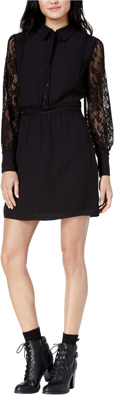 Maison Jules Womens Lace Contrast Shirt Dress