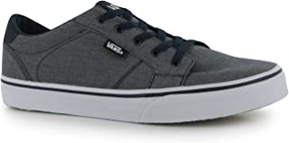 207d4158755d7c Vans Boy s Bishop Slip On (Chambray) Blue White Skateboarding Shoes  VN000ZCUFA8