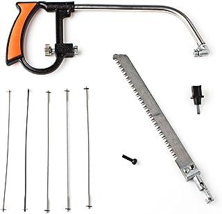 OriGlam Sierra multiusos para metales, ajustable, resistente, sierra de mano para metales, sierra de arco. Herramientas ideal para trabajo de carpinterí