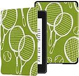 Décima Funda Kindle Paperwhite Funda de Raqueta de bádminton y Raqueta de Tenis Cubiertas para Kindle Paperwhite 2018 Estuche con activación/Reposo automático Décima Funda Kindle Paperwhite Décima