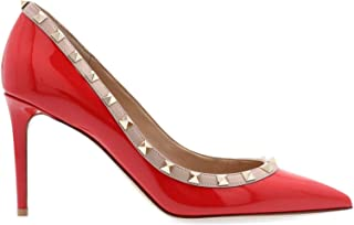 VALENTINO Women's SW2S0A04VNW95B Red Leather Pumps