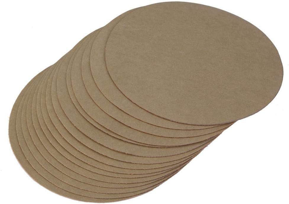 Disques de pon/çage 15 pi/èces 5 pouces Papier de verre rond Papier de polissage de sable pour voiture m/étal bois bambooware plastique 1500#