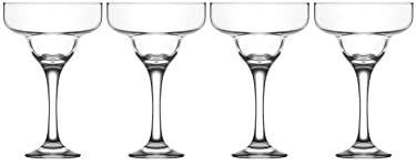 Epure Firenze Collection 4 Piece Margarita Glass Set - Classic For Drinking Margaritas, Pina Coladas, Daiquiris, and Other Cocktails (Margarita Glass (10 oz))