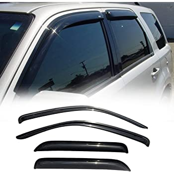 Out Channel Rain Guard Window Visor Light Tint 4pcs For 2001-2007 Mazda Tribute