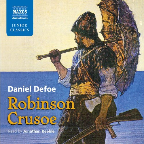 Robinson Crusoe: Retold for Younger Listeners audiobook cover art