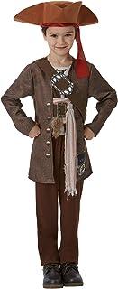 Piratas del Caribe - Disfraz de Jack Sparrow para niños, infantil 7-8 años (Rubie's 630788-L)