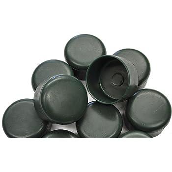Schwarz 1 1//4 Zoll OuM 20 St/ück Pfostenkappe Zaunpfahlkappe rund 42,4mm
