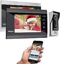 دربازکن تصویری تیمیزون 7 اینچ (TMEZON)، بی سیم ، دارای وای فای ، هوشمند بر مبنای آی پی. با ارتباط داخلی ، دارای دو مانیتور با کیفیت 1200 تی وی لاین، دربازکن با سیم ، دوربین دید در شب ، پشتیبانی از گوشی تلفن همراه هوشمند جهت بازکردن قفل درب ، ضبط تصاویر و ارتباط از راه دور