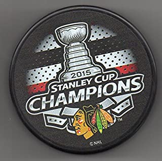 Chicago Blackhawks 2015 Stanley Cup Champions Official NHL Puck + FREE Puck Cube