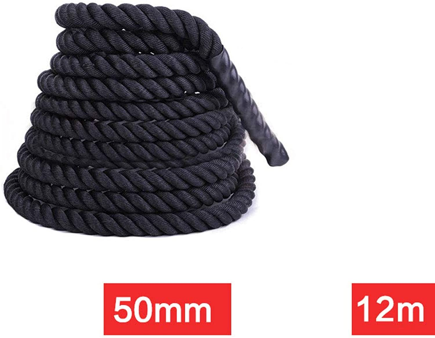 Fitness Battle Ropes Swaying Big Rope Home Battle Rope Strength Physical Training Equipment Explosive Power Muscle Thick Fighting Rope (color   A, Size   12M)