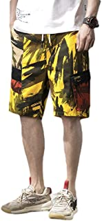RkBaoye Mens Beach Casual Quick Dry Camo Multi-Pockets Cargo Shorts Pants