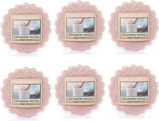 Yankee Candle Lot of 6 Cinnamon Vanilla Tarts Wax Melts