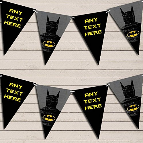 Superhero Batman Children's Birthday Bunting Garland Party Banner