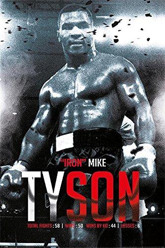 Close Up Mike Tyson Poster Boxing Record (61cm x 91,5cm) + Geschenkverpackung. Verschenkfertig!