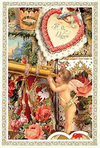 Rakka ヴィクトリアン エンジェル ポストカード同柄6枚セット ヴィンテージ キューピット カード オリジナルカード 天使 葉書 文房具 オフィス用品 封筒 はがき レター用品 ポストカード 絵柄付はがき Rakka RV08