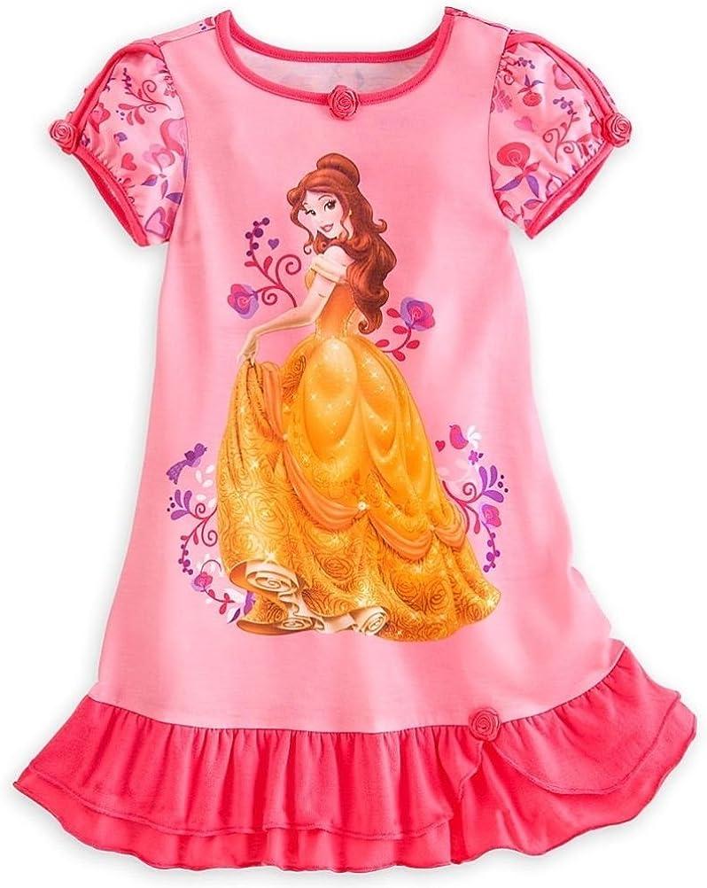 Disney Store Princess Belle Girl Nightgown Night Shirt Pajama (M 7/8)
