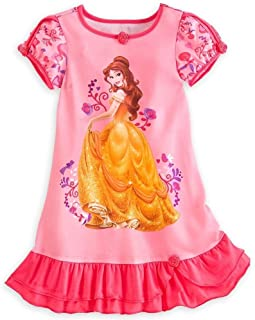 Disney Store Princess Belle Girl Nightgown Night Shirt Pajama (M 7 8) fe31cb84a